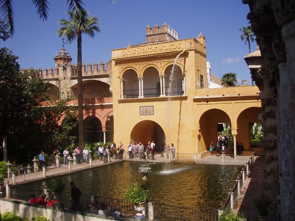 Inside the Alcazar, Seville, Spain
